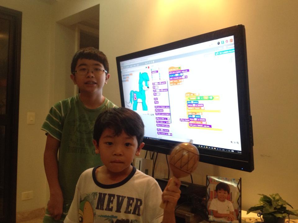 Caio e Rafael no Scratch - Ponei