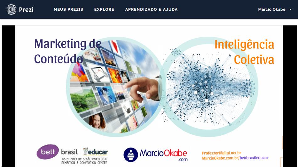 Palestra marketing de conteudo e inteligencia coletiva bett brasil educar 2016 por Marcio Okabe no Prezi
